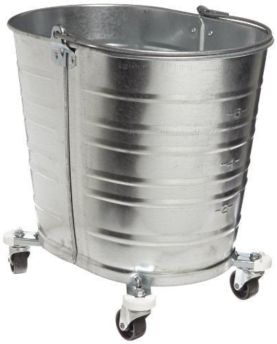 Impact WH350 Oval Galvanized Steel Bucket with 2'' Casters, 35 qt Capacity by Impact Products