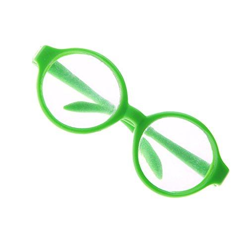 Jili Online Pair of Round Frame Eye Glasses for 18'' American Girl My Life Dolls Green
