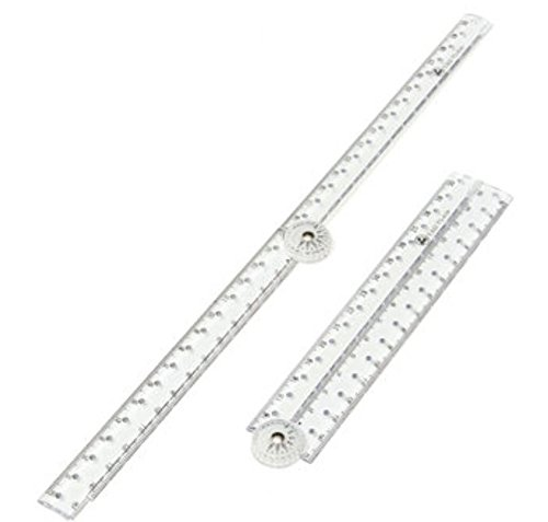 Folding Acrylic Ruler Clear For Kids Student Office School by AdvancedShop
