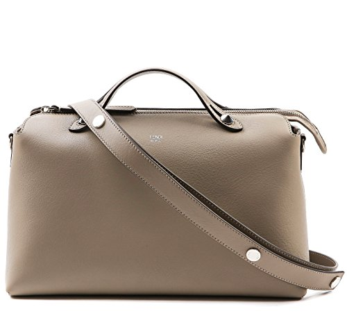 Wiberlux-Fendi-Detachable-Strap-Zip-Top-Real-Leather-Bag