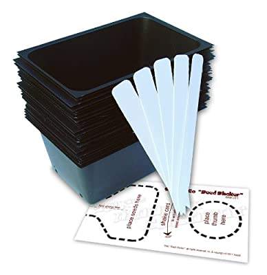 "3""x5"" Seedling Starter Trays Set (24 count), with ""Seed Shaker"" Card and 5 Plant Labels. Ideal for Micro Greens Germination."