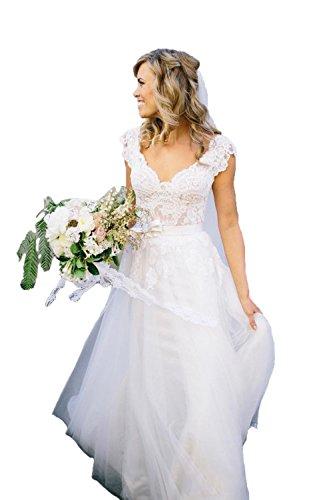beach style lace wedding dress - 6