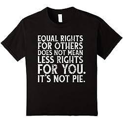 Kids Equality, kindness, anti-trump political t-shirt 6 Black