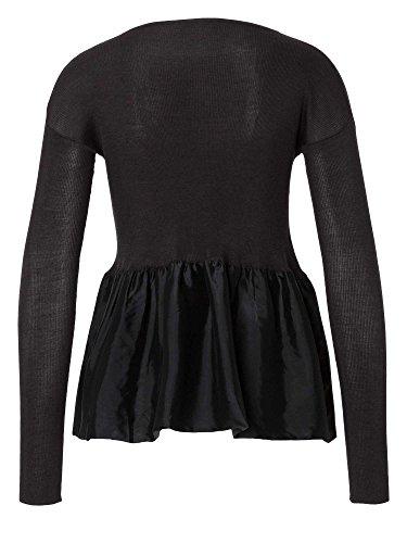 PRADA Chaqueta de punto 100 % seda Mujer gris negruzco