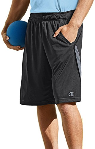 Champion Men's Fast Break Short, Black Heather/Black/Stormy Night, Medium
