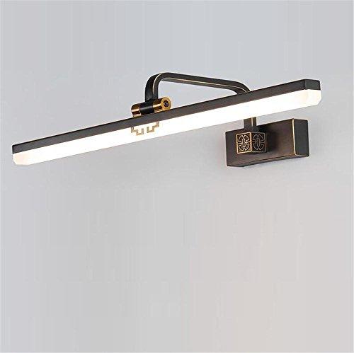 DHXY Lámpara de Espejo Led Espejo Apliques de Pared de la luz Retro Estilo Chino baño lámpara de Pared Dresser...