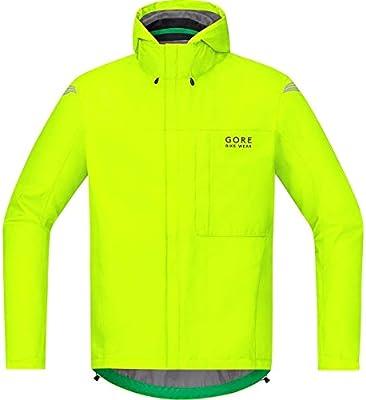 GORE BIKE WEAR Chaqueta para la lluvia, Hombre, Ligera, GORE-TEX, Paclite Jacket, Talla S, amarillo neón, JGPMEL080003