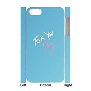 3D Bumper Plastic Case Of Fuck customized case For Iphone 4/4s