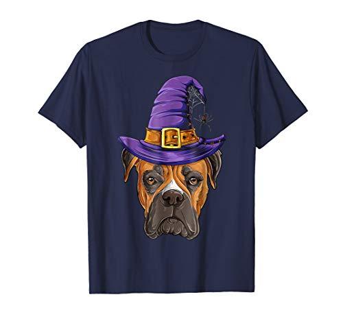 Boxer Witch T shirt Halloween Kids Women Men Hocus Pocus Dog -
