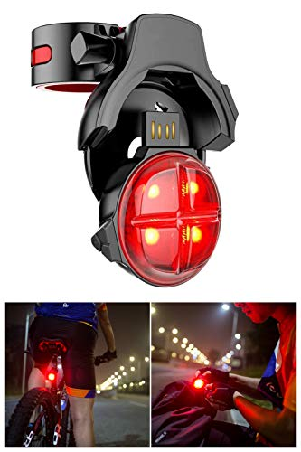 (Bicycle Tail Light,Bike Rear Light,Bike Back Night Light Bright,Brake Led Flashlight,Road Safety Light,Smart Brake Sensing,Wireless USB Rechargeable,Waterproof,Accessory for Outdoors - Easy to Mount)