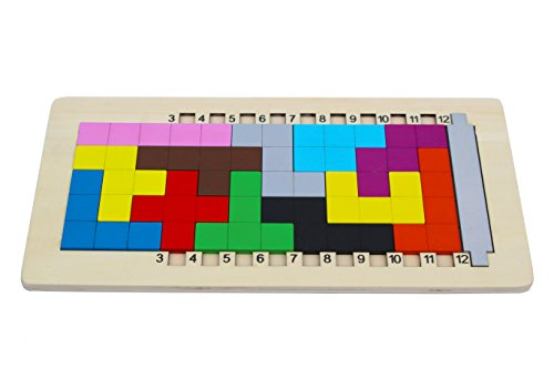 Toys of Wood Oxford wooden Pentomino Puzzle mind game - PROMOTION - Class First Ups International