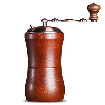 Sólido Madera molinillos mano granos de café molinillo Retro Hogar Máquina de café manual molinillo: Amazon.es: Hogar