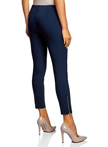 Pantaloni Stretti Elasticizzati Donna Blu Oodji 7900n Ultra 7gE8nw