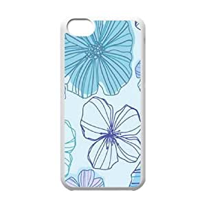 Pink Floral Unique Fashion Printing Phone Case for Iphone 5C,personalized cover case ygtg570968
