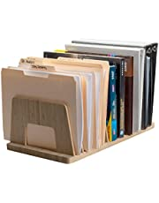 MobileVision Bamboo Desktop File Folder Organizer and Paper Tray, 10 Slots