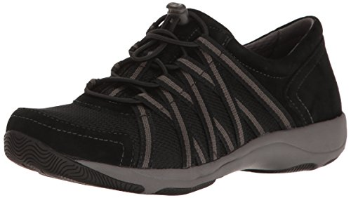 Dansko Women's Honor Sneaker, Black/Black Suede
