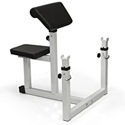 Best Choice Products® Preacher Curl Weight Bench Seated Preacher Isolated Curl Dumbbell Biceps New