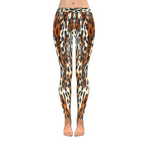 Tigers Womens Pants - InterestPrint Women's Fashion Print Yoga Pants Tiger Pattern Running Workout Active Leggings S