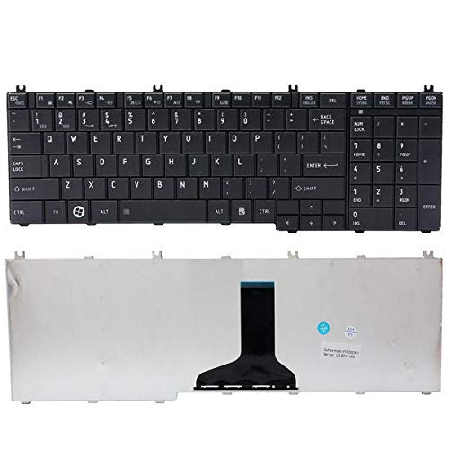 Gaming Laptop Keyboard - Laptop Computer Keyboard - Us Laptop Replacement Keyboard For Toshiba Satellite+Pro C650 C655 (Wireless Keyboard Laptop)