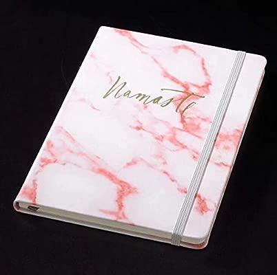 Cuaderno con patrón de mármol de piel sintética suave, con corbata ...