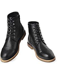 Men's Chukka Wingtip Oxford Boot Lace-Up Zip Boots Ankle Dress Boots Work Combat Hunter