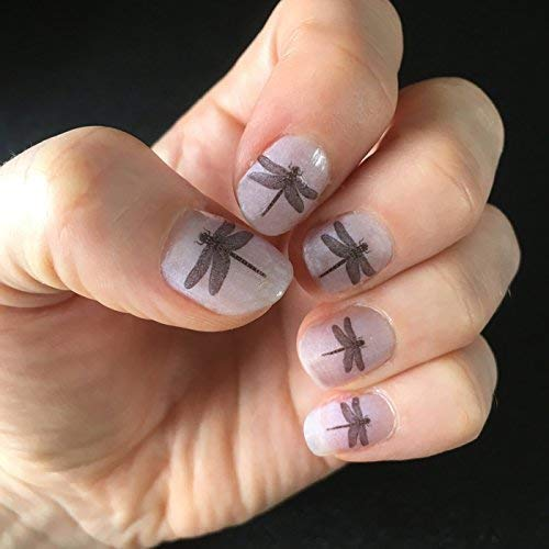 Set of 16 Dragonfly nail decal transfers. Temporary tattoo. Dragonfly nail  art gift.: Amazon.co.uk: Handmade - Set Of 16 Dragonfly Nail Decal Transfers. Temporary Tattoo