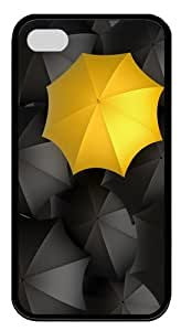 Let it rain TPU Silicone Case Cover for iPhone 4/4S ¡§CBlack