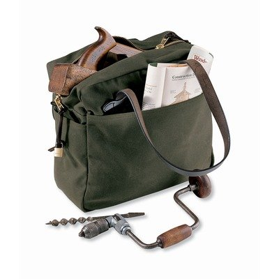 Tote Bag with Zipper in Otter Green by Filson