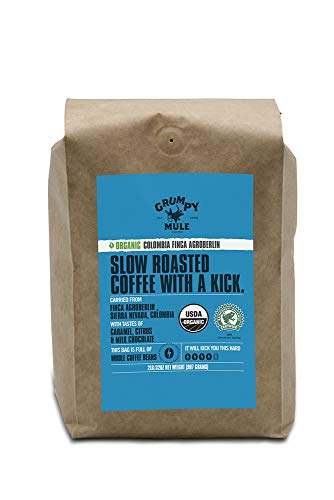 - Grumpy Mule Organic Colombia Finca Agroberlin Whole Bean Coffee - 2 pounds (907 grams). Rainforest Alliance Certified.