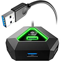 ineo 4 Port USB 3.0 gaming Hub for iMac, Desktop PC From Dell, HP, Asus, Acer, and More [THC10]