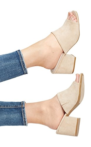 maurices Women's Justine Suede Mule 8 Taupe