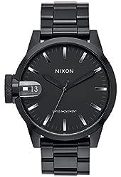 Nixon Men's A4411420 Chronicle 44 Analog Display Swiss Quartz Black Watch