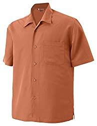 Harriton Men's Barbados Textured Camp Shirt, Cloud Blue, XXX-Large