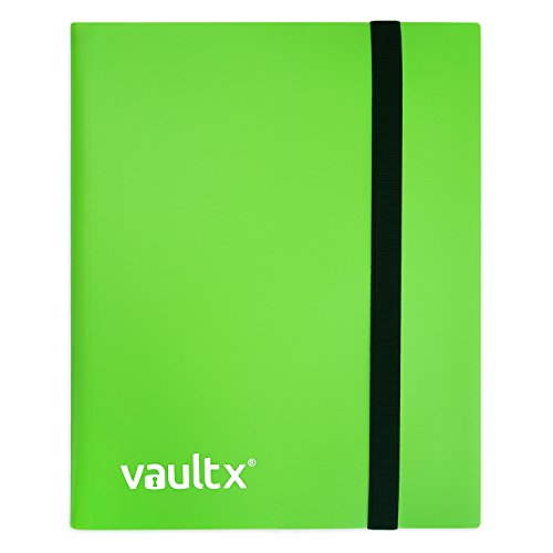 (Vault X Binder - 4 Pocket Trading Card Album Folder - 160 Side Loading Pocket Binder for TCG (Green))