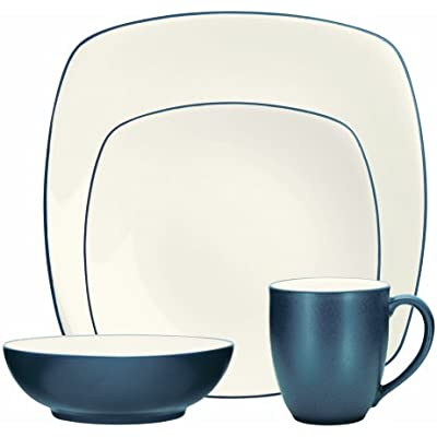 Click for Noritake 4-Piece Colorwave Square Place Setting, Blue