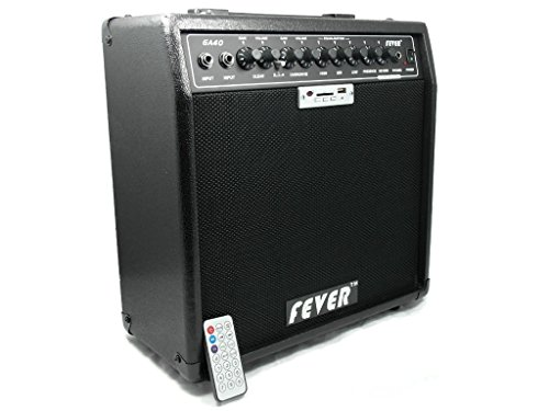 Fever GA-40 40 Watts Guitar Combo Amplifier with USB and SD Audio Interface with Remote Control by Fever