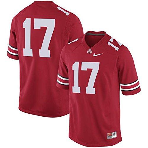 NIKE NCAA Men's Ohio State Buckeyes #17 Game Jersey Scarlet Medium