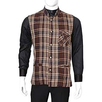 Libas Riyaz Gangji Multi Color Twill Vest For Men