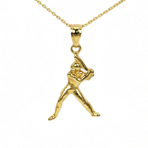 10k Yellow Gold Baseball Player ()
