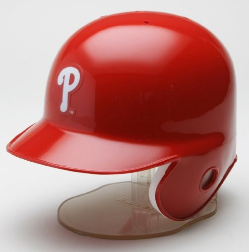 Philadelphia Phillies Mini Baseball Batting Helmet - with display stand