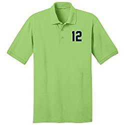 Seattle 12 Double Knit With PosiCharge Technology Polo Shirt- Lime Green S