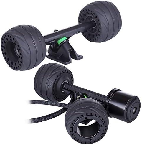 LesDiy 105BP Kit de Moteur de Moyeu Remplaçable pour Le Skateboard Electrique (Moteur de Moyeu + Roue Avant + Camions)