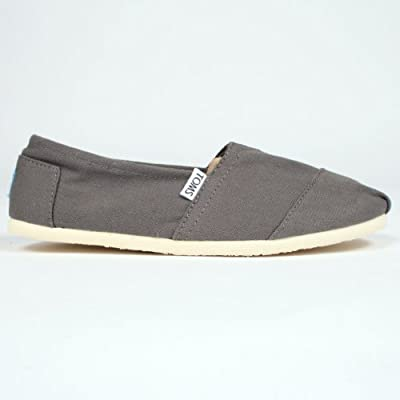 TOMS Men's Classic Canvas Slip-On Grey