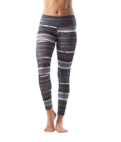 90 Degree By Reflex - Performance Activewear - Printed Yoga Leggings - Sandy Stripe Black - Small