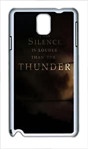 Samsung Galaxy Note 3 Case and Cover - Quotes Silence Louder Than Thunder Custom PC Hard Case Cover for Samsung Galaxy Note 3 / N9000 White