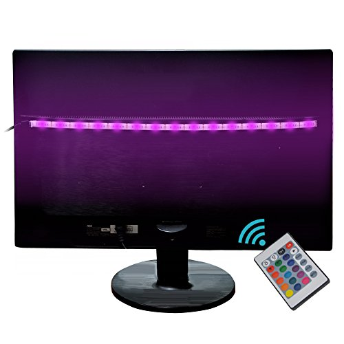 Bias Lighting TV Backlight ,Salute LED Strip Light USB Powered Multi Color Changed RGB Tape with Remote Control for HDTV LCD /PC/Laptop Background Lighting