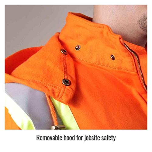Revco/Black Stallion TruGuard™ 200 FR Cotton Hooded (Safety Orange) Sweatshirt, Reflectives 2XL by Black Stallion (Image #2)