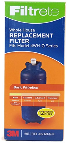 3M Filtrete Whole House Water Filtration Replacement Filter Model 4WH-QS-F01 Fits Model 4WH-Q (Plus Model Whole House)