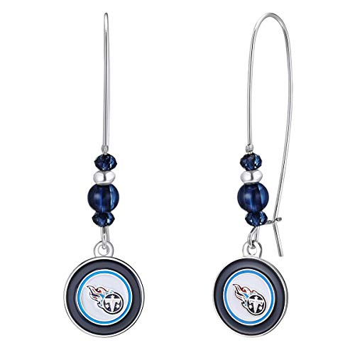 Pro Specialties Group NFL Tennessee Titans Kidney Wire Hook Earrings