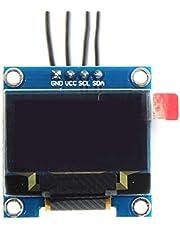 Ballylelly 0.96inch OLED IIC GND LCD Resolución 128 * 64 0.96inch Módulo de Pantalla LCD en Color con Controlador de ángulo de visión Grande IC SSD1306